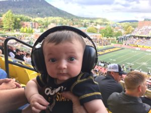 Lincoln Boone Enjoys his first Appalachian State Homecoming Game