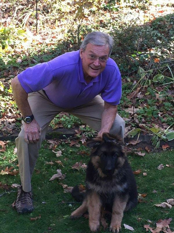 Jay Vincent and his German Shepherd Puppy Moses