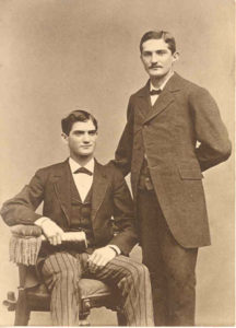 Moses Cone (sitting) and his brother Caesar