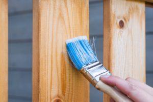 Paint brushing using sealer on wood