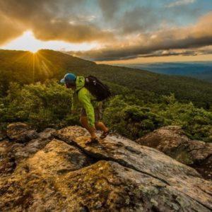 New Year's sunrise at Grandfather Mountain in North Carolina