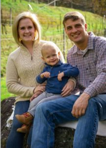 Lindsay Pinckney, Licensed Realtor® with her Husband, Dustin and son Owen